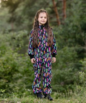 Waterproof Softshell Overall Comfy Feathers Jumpsuit