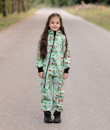 Waterproof Softshell Overall Comfy Princesses Jumpsuit