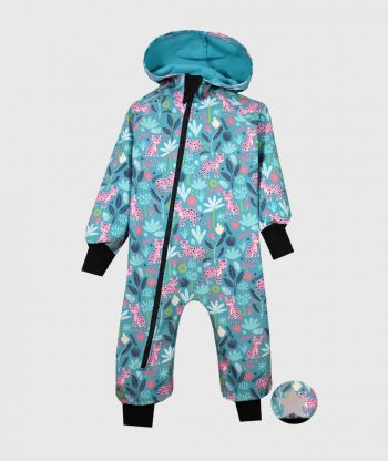 Waterproof Sofshell Overall Comfy Panthers Jumpsuit