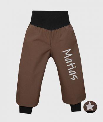 Waterproof Softshell Pants Brown