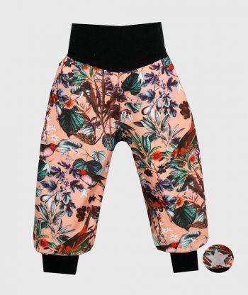 Waterproof Softshell Pants Flowers And Birds
